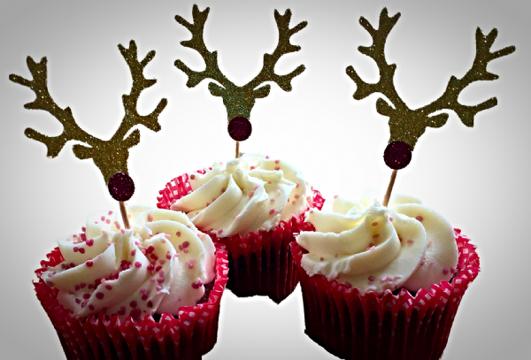 Christmas glitter cupcake Toppers